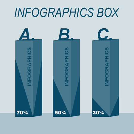 infographic design modern box