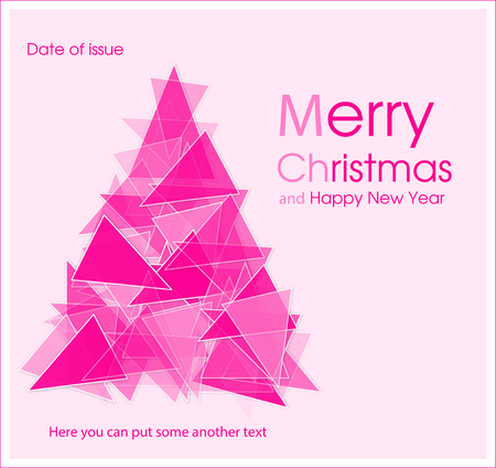Vector christmas tree with triangle design Illustration