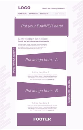 newsletter: Responsive newsletter template for business or non-profit organization
