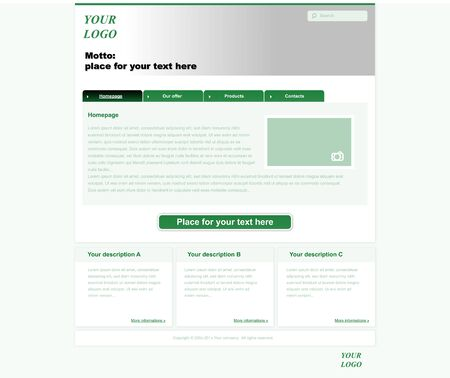 nonprofit: responsive web layout template for business or non-profit organization