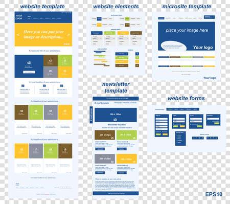 web site: responsive web elements for business or non-profit organization Illustration