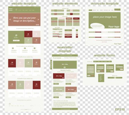 responsive: responsive web elements for business or non-profit organization Illustration