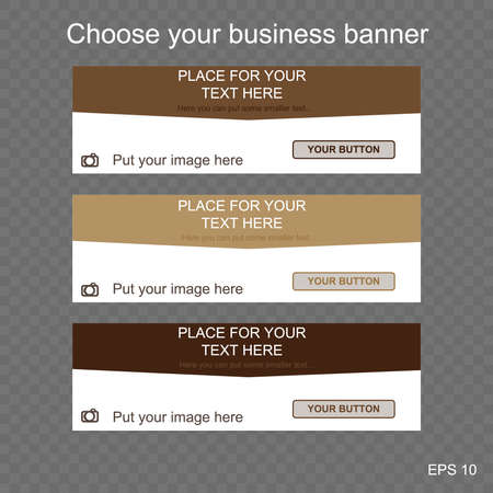 responsive web banner for business or non-profit organization