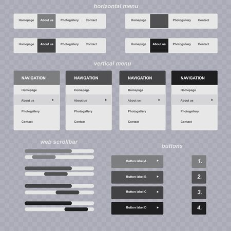 scrollbar: responsive elements for web site