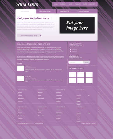 responsive: responsive web layout template for business or non-profit organization