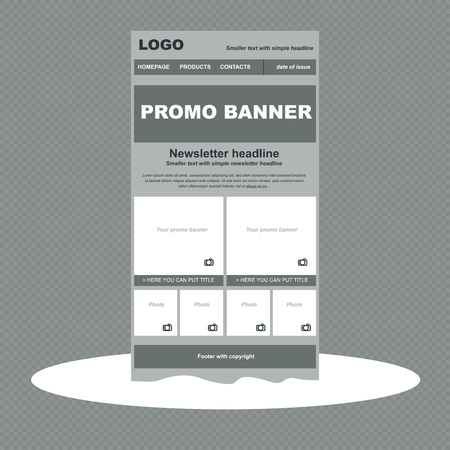 newsletter template: responsive newsletter template for business or non-profit organization