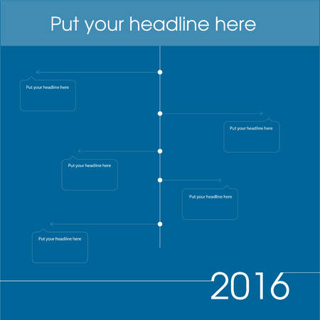 web site: newsletter template graph for business or non-profit organization Illustration