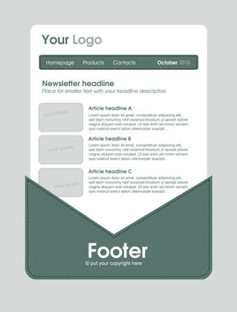 responsive: responsive newsletter template for business or non-profit organization