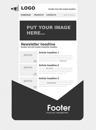 web site: Responsive newsletter template for business or non-profit organization