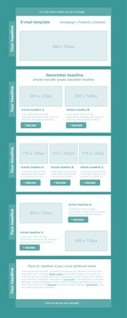 page site: responsive newsletter template for business or non-profit organization