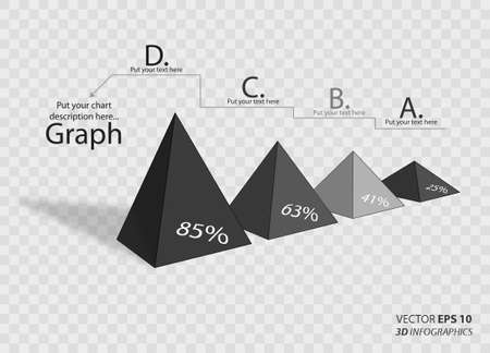 3d triangle: 3d triangle vector infographics