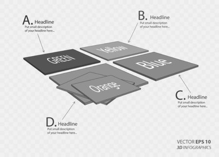 setsquare: creative 3D vector infographics panel for business or non-profit organization