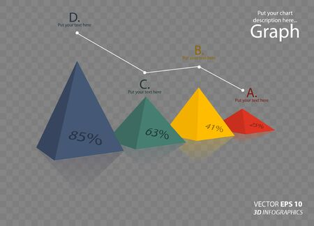 nonprofit: creative 3D vector infographics triangle for business or non-profit organization