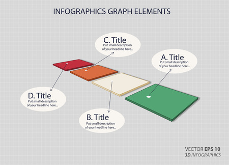 nonprofit: creative 3D vector infographics panel for business or non-profit organization