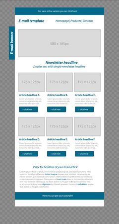5097 email newsletter template stock illustrations cliparts and responsive newsletter template for business or non profit organization fbccfo Choice Image
