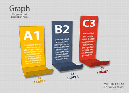 setsquare: creative column infographics for business or non-profit organization Illustration