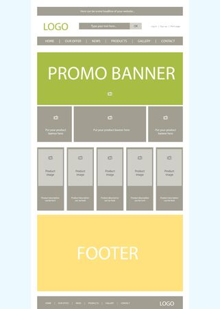nonprofit: website layout for business or non-profit organization