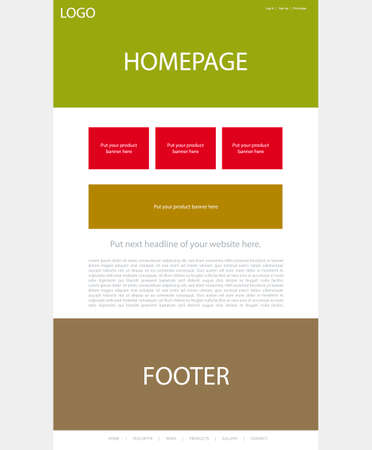 website layout for business or non-profit organization