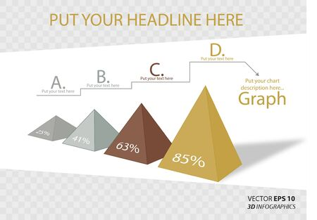 non profit: creative 3D vector infographics triangle for business or non-profit organization