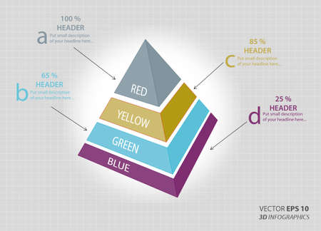 setsquare: creative 3D vector infographics triangle for business or non-profit organization