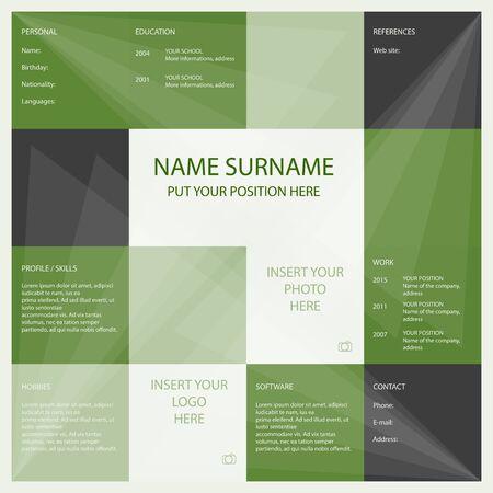 Vector simple curriculum template