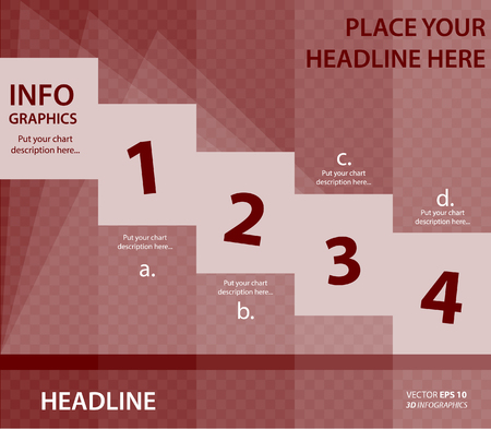 Banner corporate vector layout template for business or non-profit organization Stock Illustratie
