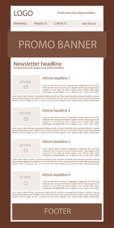 nonprofit: newsletter template for business or non-profit organization