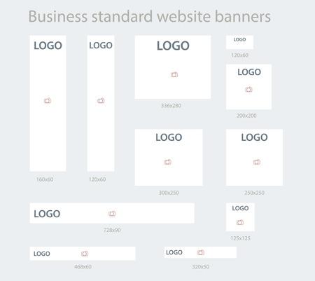 standard: Business standard website banners template set