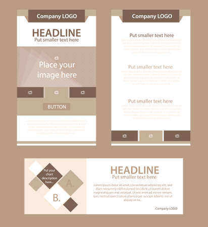 nonprofit: Corporate vector layout templates for business or non-profit organization Illustration