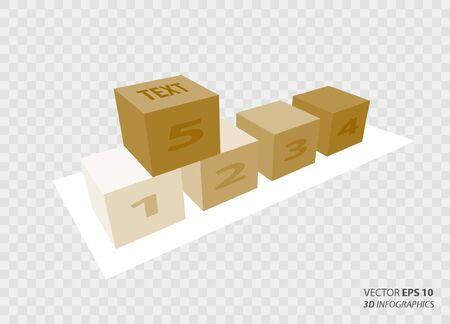 creative: creative vector infographics cubes Illustration