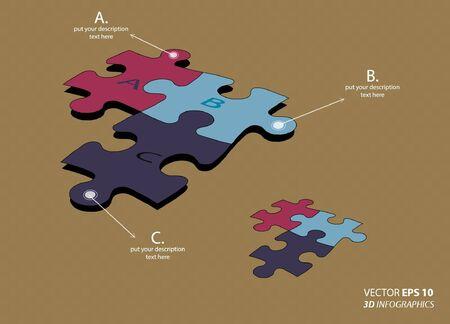 colorful puzzle pieces Illustration