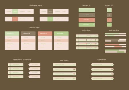web template: Business web graphics elements template set
