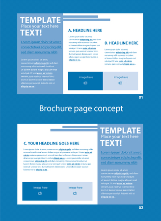Vector brochure page concept with two pages for business organization Illustration