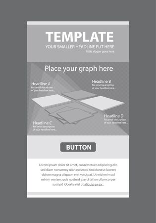 Corporate vector layout templates for business or non-profit organization with infographic boards