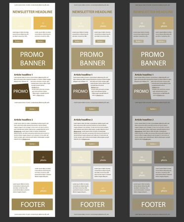Corporate vector layout templates for business or non-profit organization Illustration