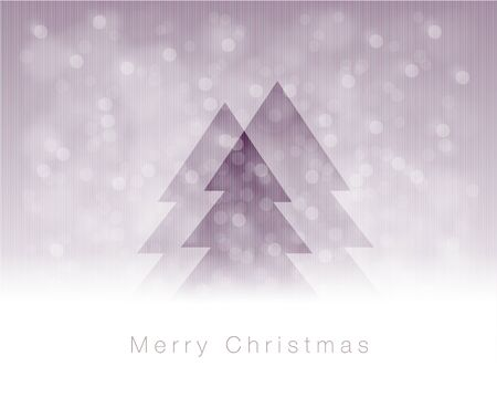 transparent christmas tree on abstract background