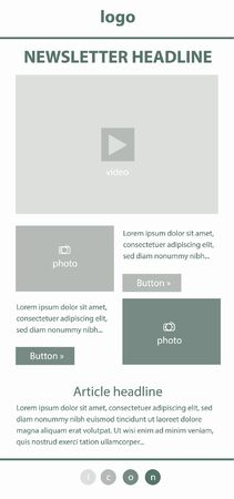 responsive design: Corporate vector layout templates for business or non-profit organization Illustration