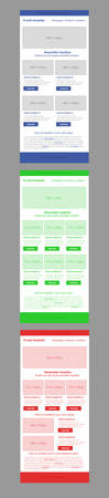 responsive design: Newsletter corporate vector layout template for business or non-profit organization.