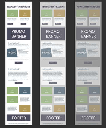responsive design: Simple vector layout templates for business or non-profit organization Illustration