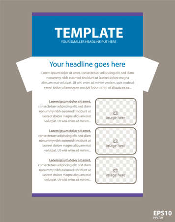 responsive design: Gray border  corporate vector layout template for business or non-profit organization Illustration