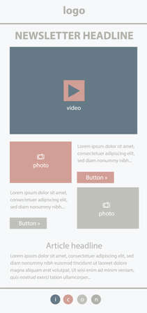 responsive design: Corporate layout templates for business or non-profit organization
