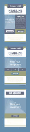 responsive design: Newsletter corporate layout template for business or non-profit organization