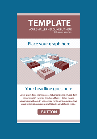 responsive design: Corporate vector layout templates for business or non-profit organization with infographic columns Illustration