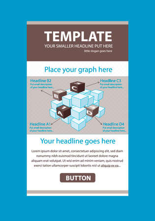 responsive design: Corporate vector layout templates for business or non-profit organization with infographic cubes