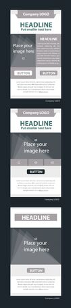 responsive design: Newsletter corporate vector layout template for business or non-profit organization