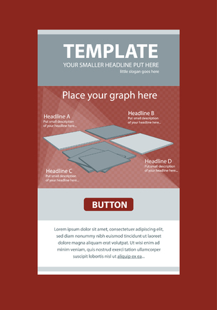 responsive design: Corporate vector layout templates for business or non-profit organization with infographic boards