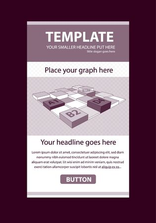 Corporate vector layout templates for business or non-profit organization with infographic columns Illustration