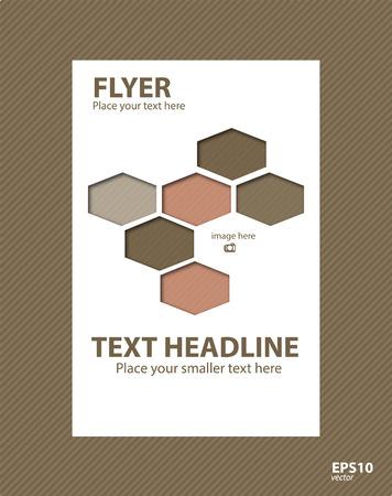 Brochure template for business, design, education, presentation, website, magazine page.
