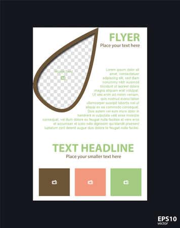 Concept brochure template for business, education, presentation, website, magazine cover.