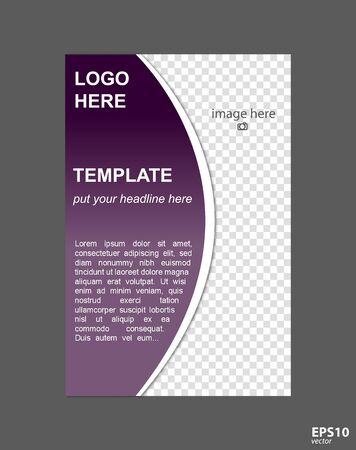 Brochure page concept for business organization